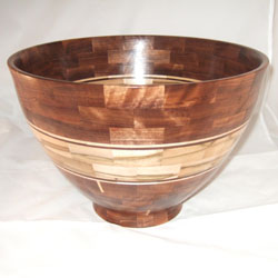 Black walnut and ambrosia maple (13.5 x 9.5, $250, sold)